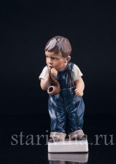 Изображение Курильщик, мальчик с трубкой, Dahl Jensen, Дания, 1920-70 гг