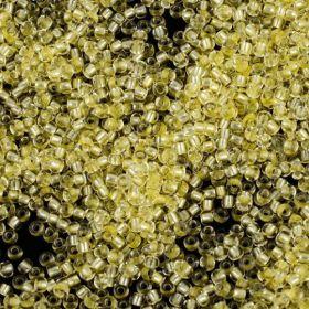 Бисер чешский 08286 желтый прозрачный серебряная линия внутри Preciosa 1 сорт
