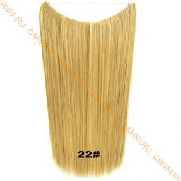 Искусственные термостойкие волосы на леске прямые №022 (60 см) - 100 гр.