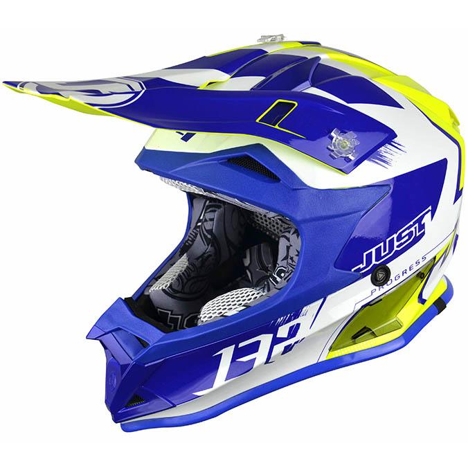 Just1 - J32 Pro Kick Kids White/Blue/Yellow шлем, подростковый бело-сине-желтый