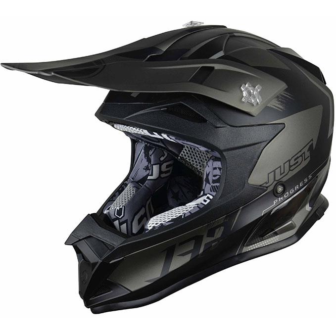 Just1 - J32 Pro Kick Black/Titanium шлем, черно-титановый матовый