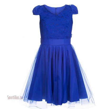 Синее платье, юбка фатин
