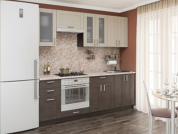 Кухня Лофт 01 Cappuccino Veralinga / Wenge Veralinga