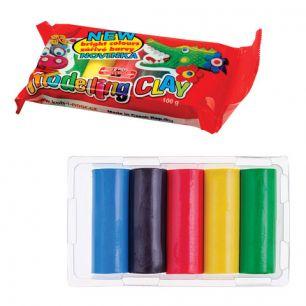 Пластилин классический KOH-I-NOOR, 5 цветов, 100 г, пластиковая упаковка, европодвес, 013171300000