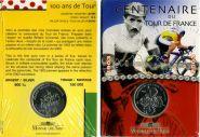Франция 1/4 евро 2003 Тур де Франс серебро блистер