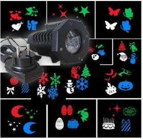 Светодиодный LED уличный проектор 12 сменных слайдов