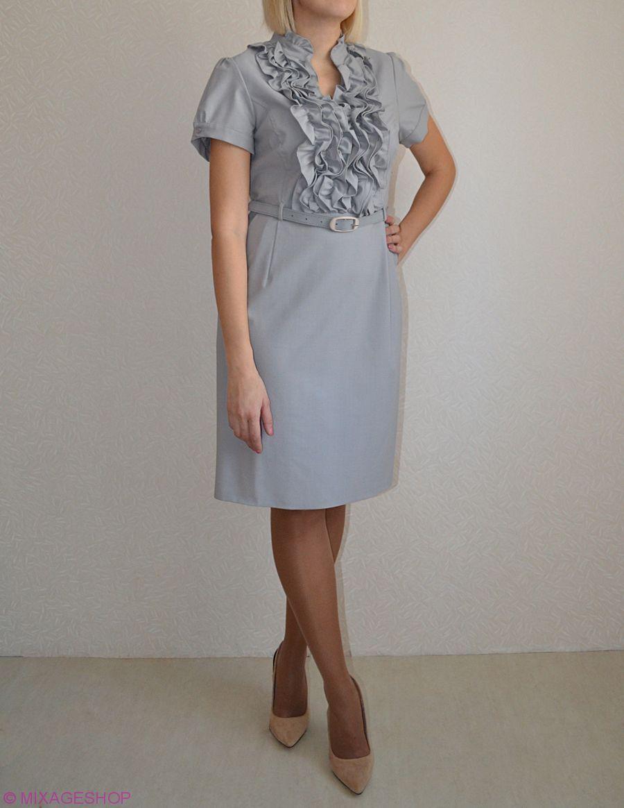 Платье  габардиновое платье полуприлегающего силуэта