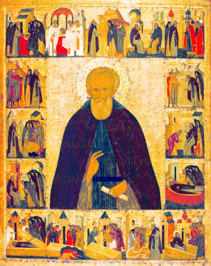 Икона Дмитрий Прилуцкий (копия 15 века)