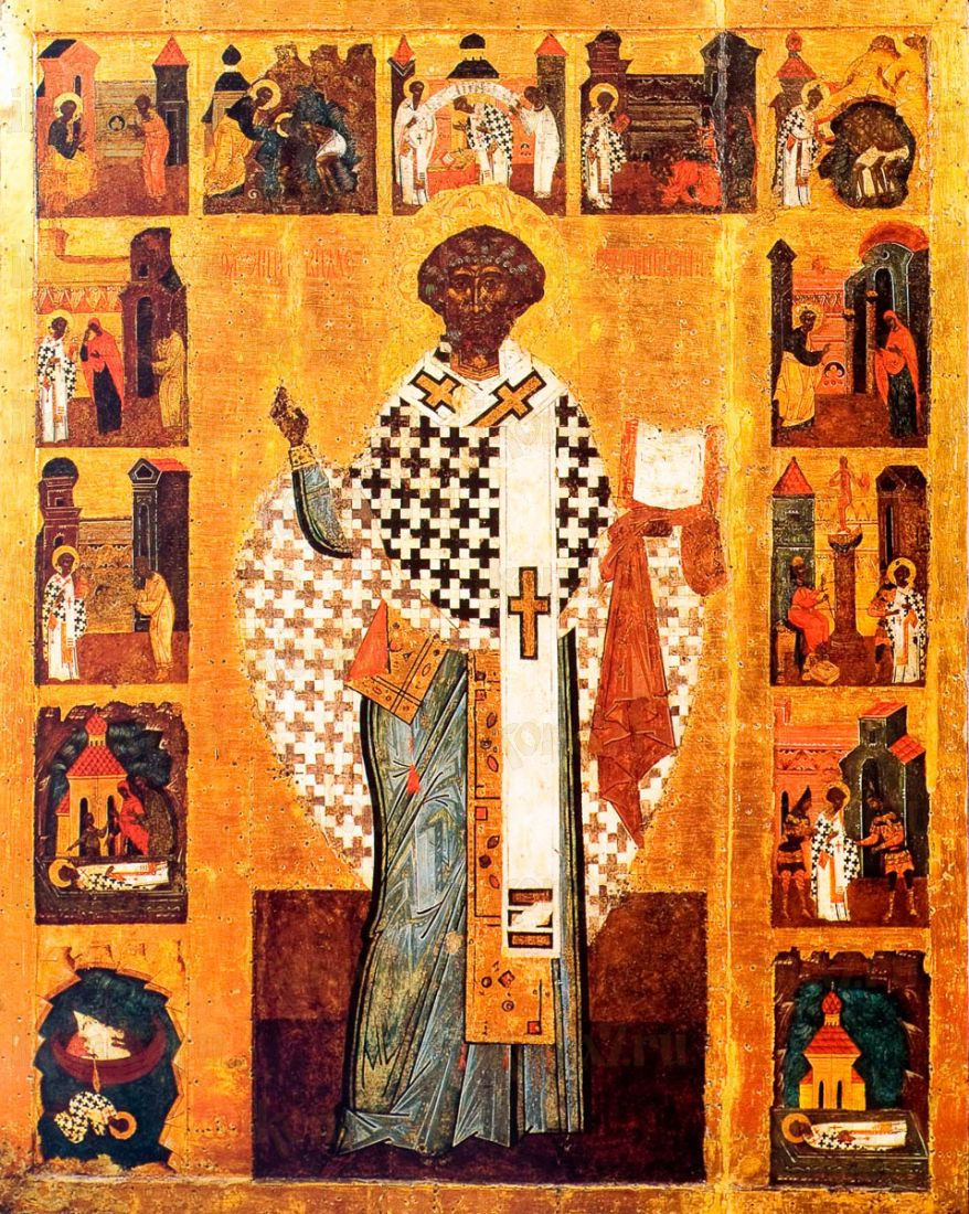 Икона Климент, Папа Римский (копия 16 века)
