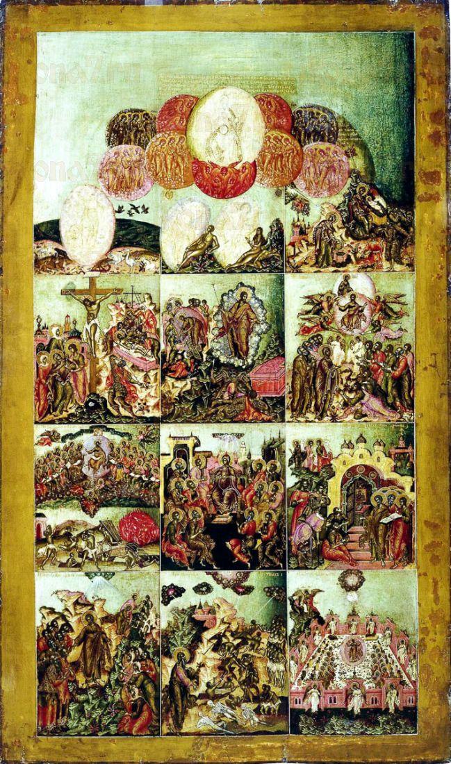 Икона Символ веры (копия Симона Ушакова 17 века)
