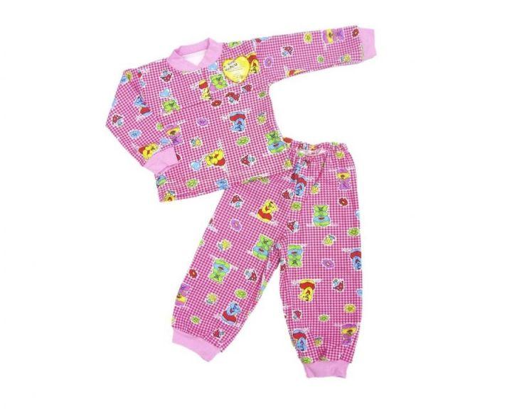 Пижама с кокеткой C-PJ023(2)-IT (интерлок)