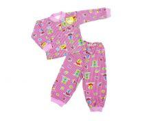 Пижама с кокеткой мальчик девочка C-PJ023(2)-IT (код 01633) Мамин малыш OPTMM.RU