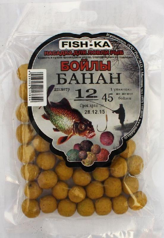 Бойлы FISH.KA (банан) диаметр 18 мм