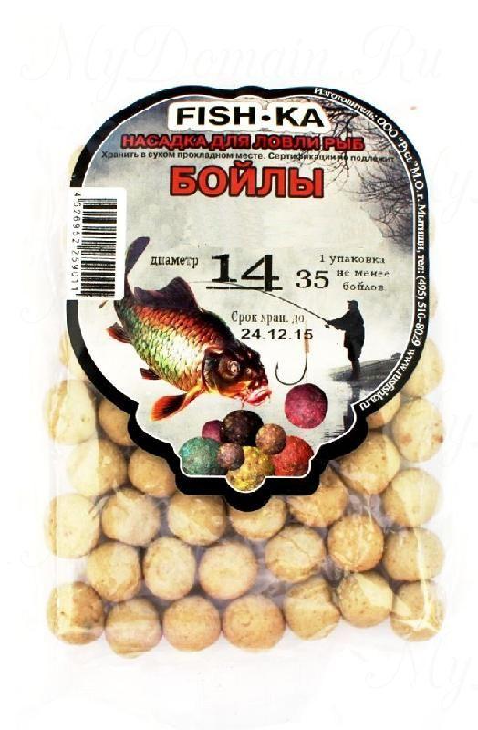 Бойлы FISH.KA (орех) диаметр 14 мм