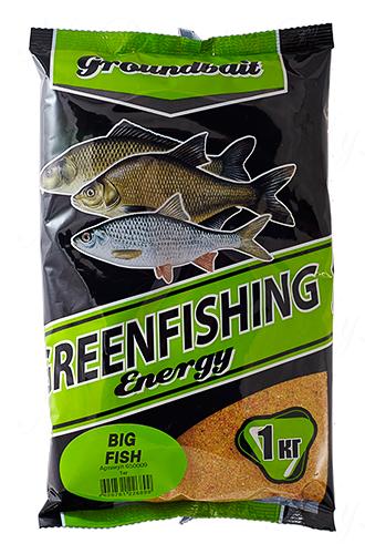 Прикормка GREENFISHING Energy BIG FISH (Лето), вес 1 кг
