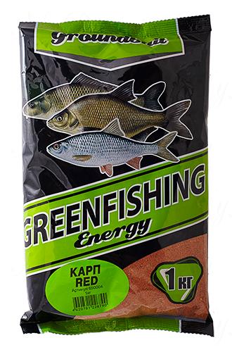 Прикормка GREENFISHING Energy Карп RED (Лето), вес 1 кг