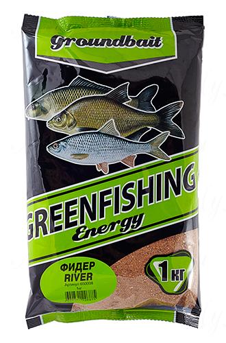 Прикормка GREENFISHING Energy Фидер River (Лето), вес 1 кг