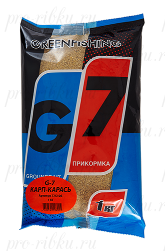 """Прикормка GREENFISHING """"G-7 Карп-Карась"""", вес 1 кг"""