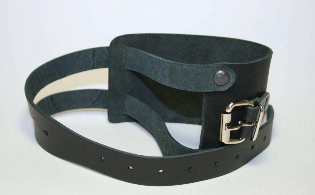 Напульсник усиленный кожаный с металлической пряжкой НК20