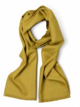 стильный шарф 100% шерсть мериноса,  расцветка Горчичная  Mustard , средняя плотность 4