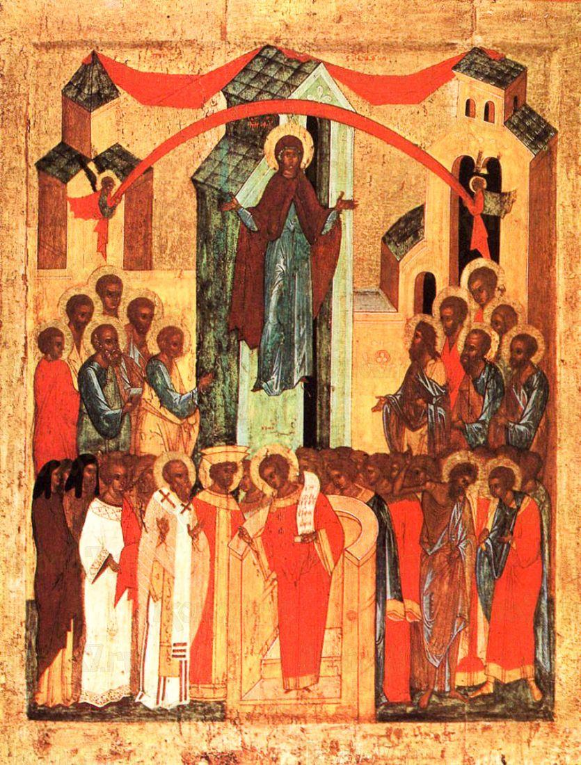 Покров Пресвятой Богородицы (копия старинной иконы)