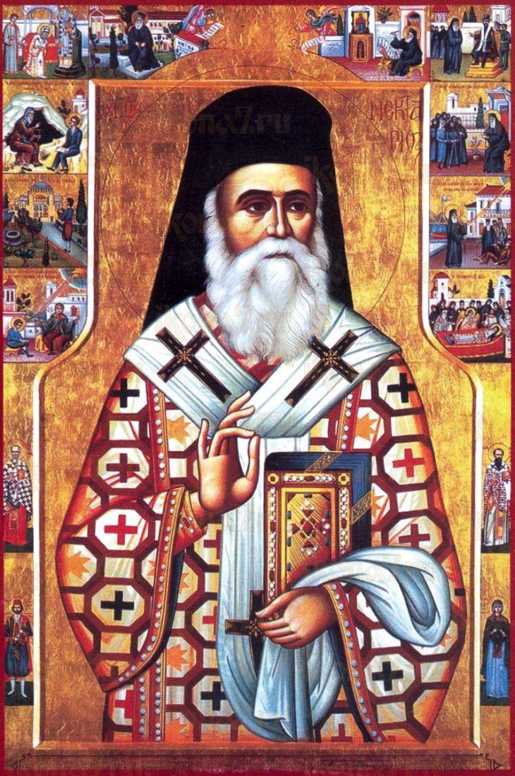 Икона Нектарий Эгинский (копия старинной)