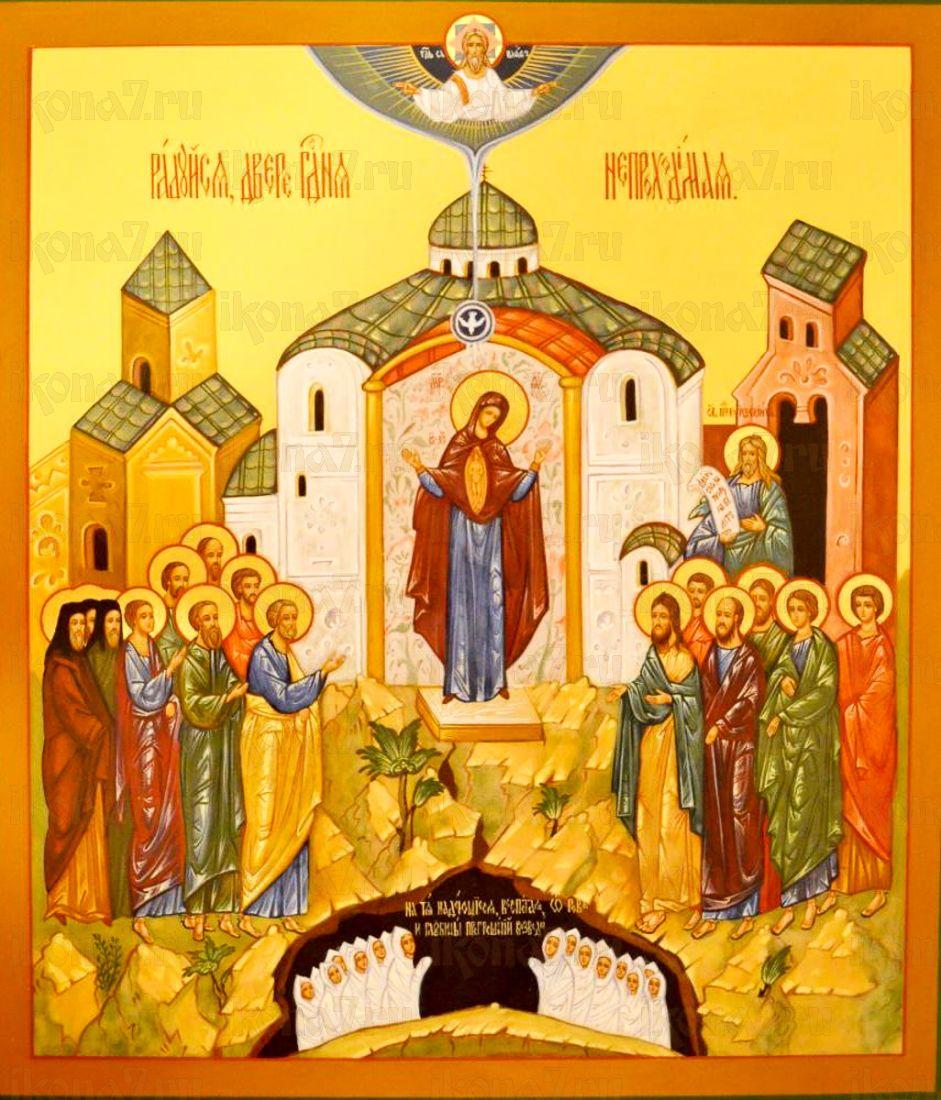 Непроходимая дверь икона Божией Матери