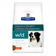 Hill's PD Canine w/d Low Fat/Diabetes/Colitis Диетический корм при сахарном диабете (12 кг)
