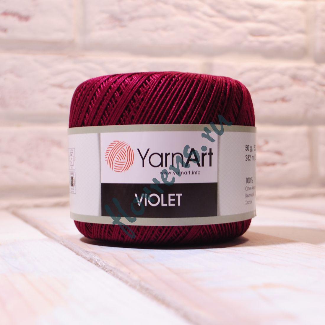 Пряжа YarnArt Violet / 0112 бордо