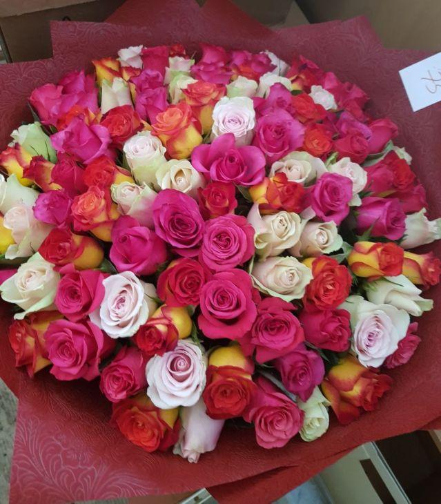 101 микс импортная роза