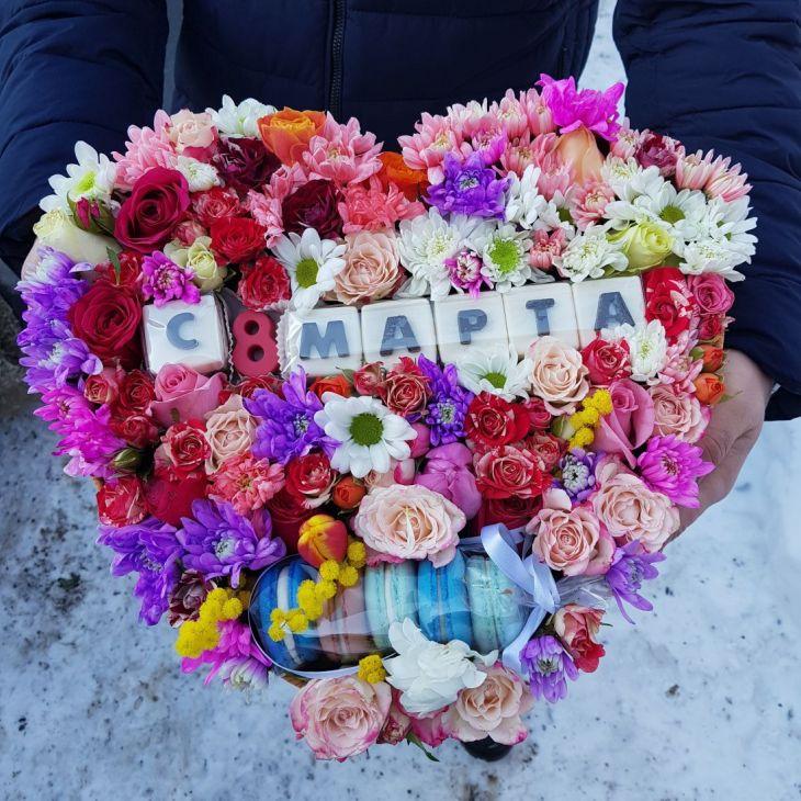 коробочка с Шоколадными буквами с 8 марта