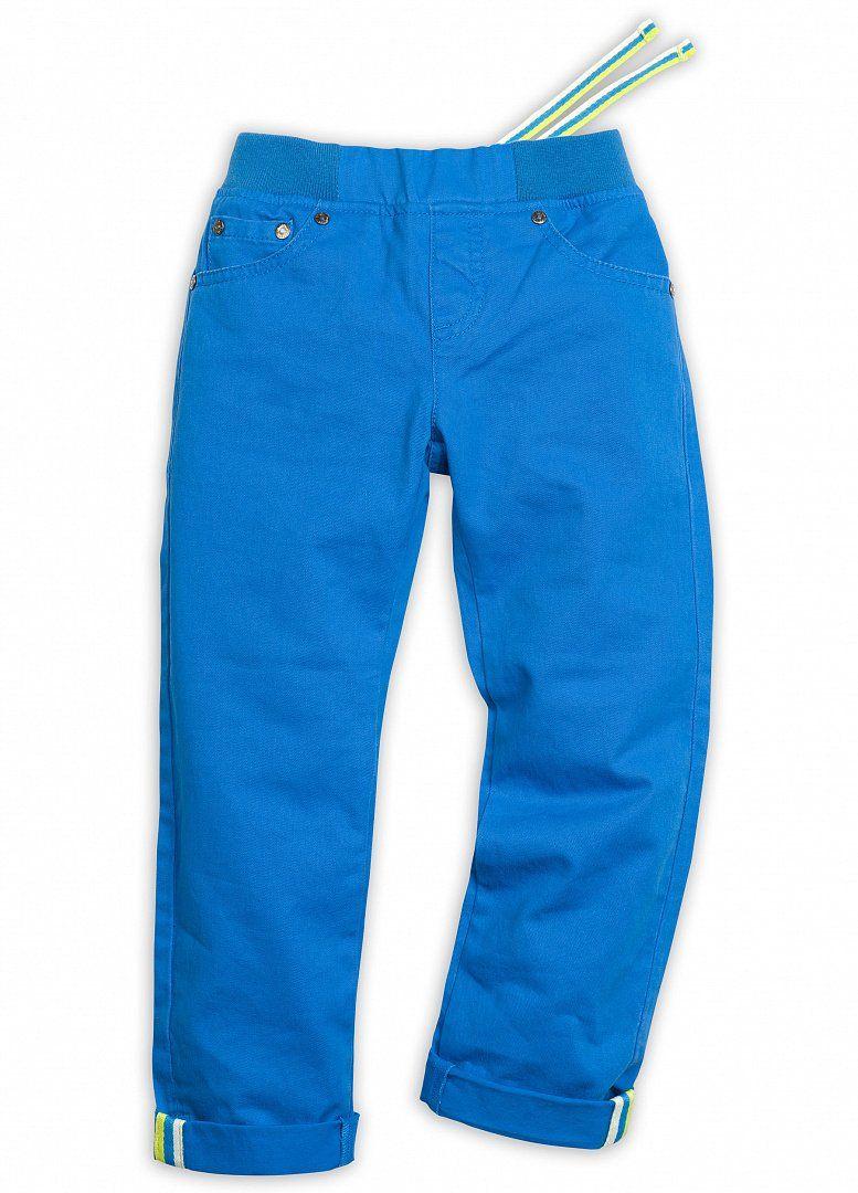 Синие брюки для мальчика 5 лет из хлопковой ткани