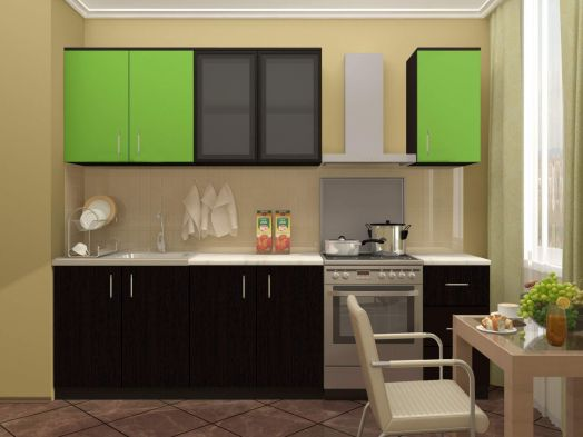Кухня Катя 2,0 (венге/венге лайм)