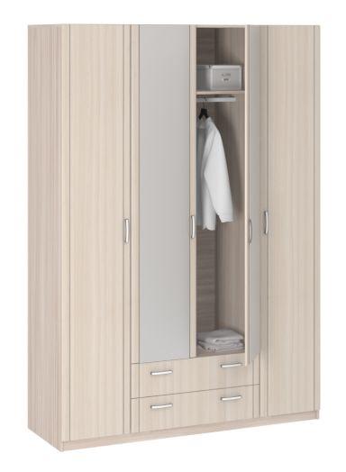 """Шкаф 4-дверный 8.04 """"Лотос"""" с зеркалом"""