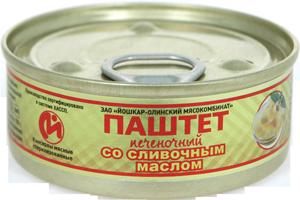 Паштет печеночный со сливочным маслом №1   100гр*24 ключ