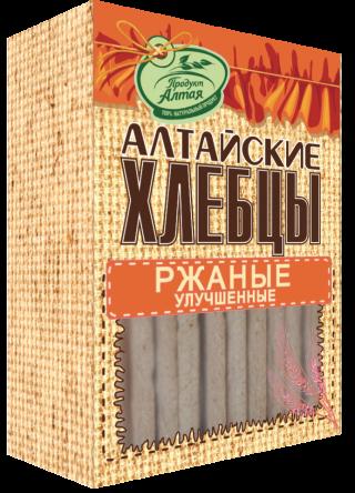 Хлебцы Алтайские Ржаные 75гр*16