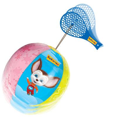 Игрушка надувная Барбоскины Мяч с лаптой, 12 шт.