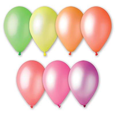 """Надувной шарик 9"""", ассорти неоновых цветов, 100 шт."""