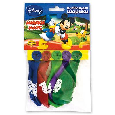 Шарики с рисунком Disney Микки Маус 30см,  шт.