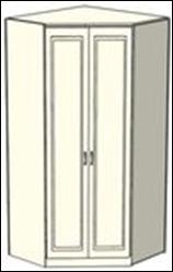 Шкаф-трапеция Ждана разносторонний двухдверный, модуль 52 (100-114/110-124см)