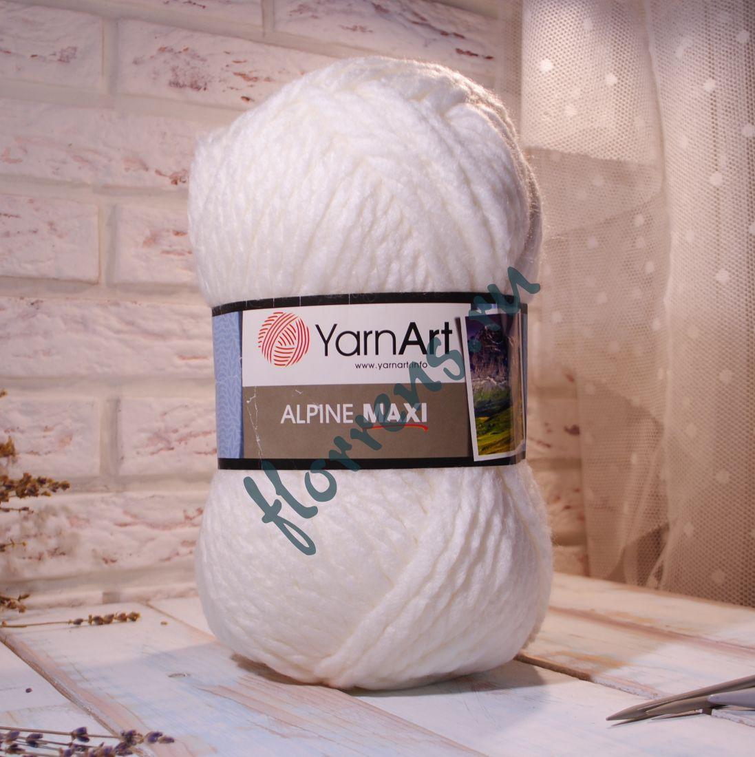 Пряжа YarnArt Alpine Maxi / 676 белый