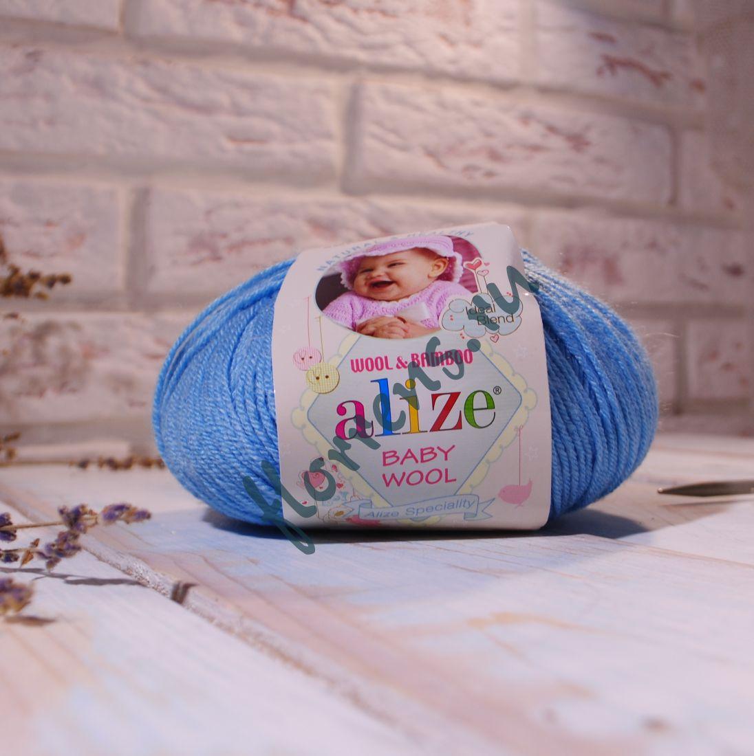 "Пряжа ""Alize"" Baby wool / 128 бирюзовый"