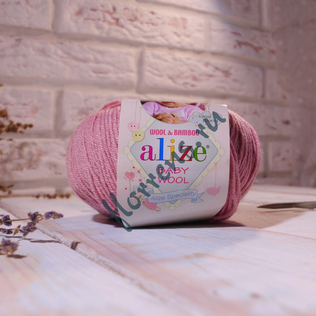 "Пряжа ""Alize"" Baby wool / 161 пудра"