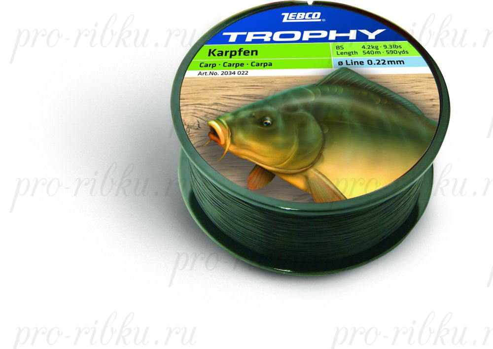 Леска Carp (Карп) TROPHY (TOPIC) ZEBCO 500m 0,28мм