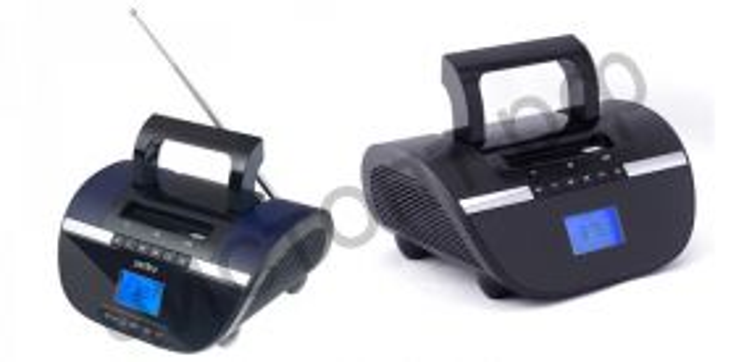 Колонка универс.с радио Perfeo STILIUS BT, FM, MP3 USB/SD, часы-будильник, USB/600mAh, черн/фиолет (i350PRO-PR)