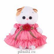 Кошечка Ли-ли Беби в платье с вязаным цветочком 20 см.