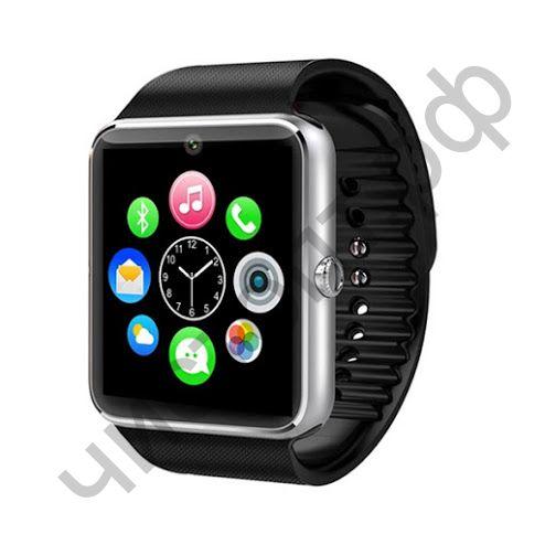 Smart часы (умные часы ) WD-04 Серебро ( GSM SIM, microSD ) телефон, Bluetooth Андроид Айфон музыка камера фото видео голос. связь телеф.номер смс барометр шагомер датчик сна альтиметр приложения