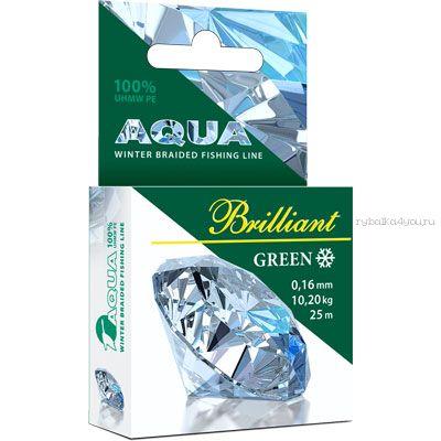 Купить Шнур плетеный Aqua Green Brilliant 25 м