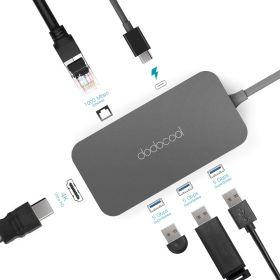 Адаптер Dodocool 6 в 1 (USB-C +3 USB +Ethernet +4K +Power Delivery) DC50