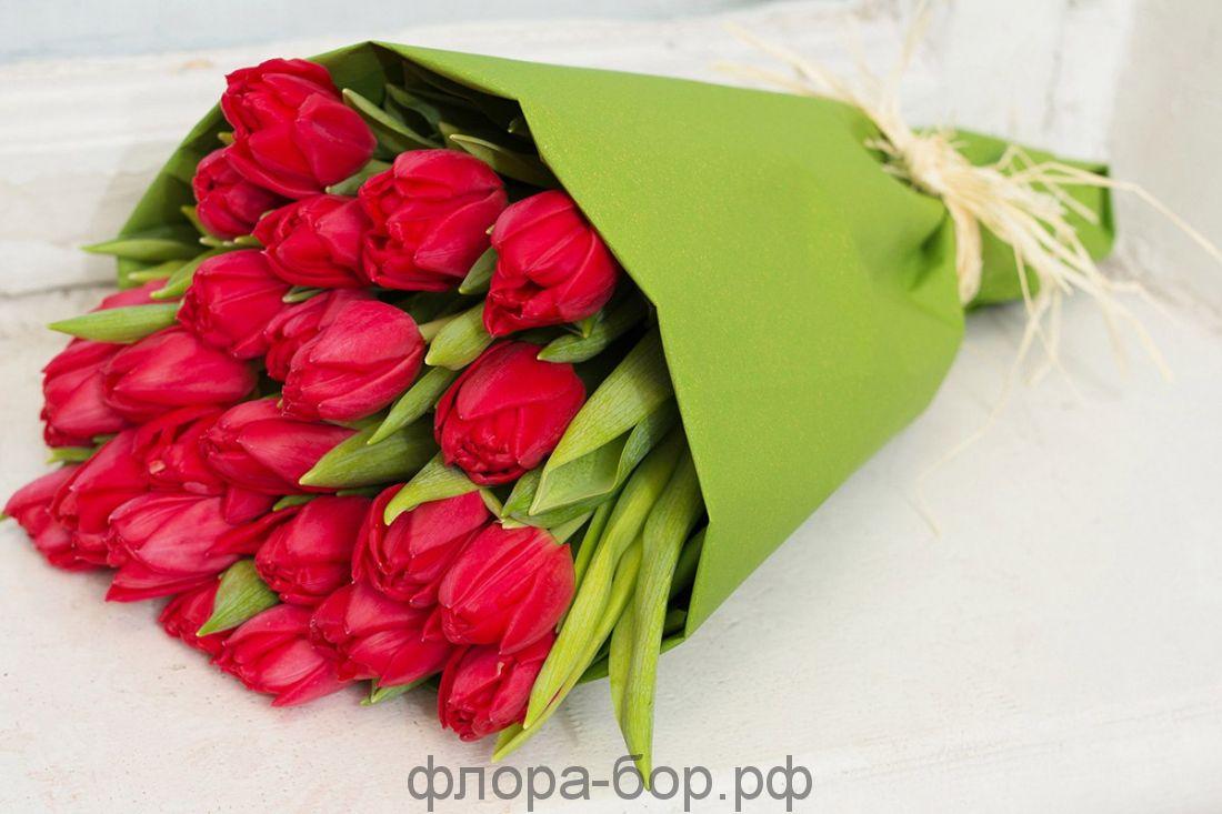 Букет из 31 тюльпанов
